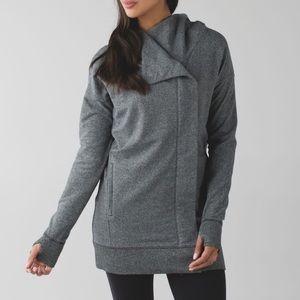 Lululemon Athletica Long Sweater Coat Gray